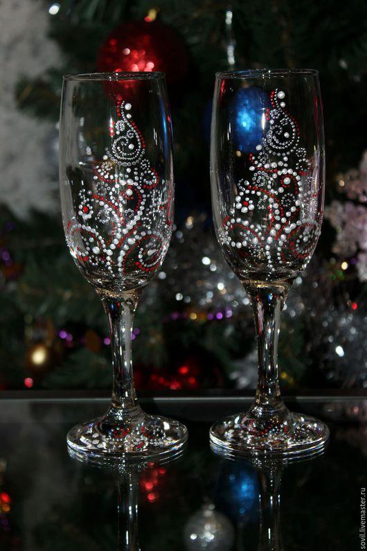 Бокалы, стаканы ручной работы. Ярмарка Мастеров - ручная работа. Купить Бокалы подарочные. Handmade. Комбинированный, Подарочные бокалы