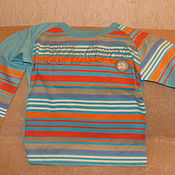 Винтаж handmade. Livemaster - original item Vintage clothing: T-shirt striped long sleeves size 92. Handmade.