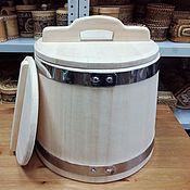 Для дома и интерьера handmade. Livemaster - original item The wooden tub made of cedar 20 litres stainless steel. Handmade.