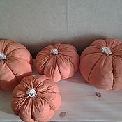 Для дома и интерьера ручной работы. Ярмарка Мастеров - ручная работа тыквы интерьерные. Handmade.