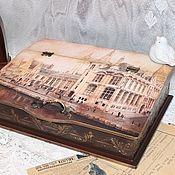 Для дома и интерьера ручной работы. Ярмарка Мастеров - ручная работа Бюро для бумаг шкатулка Старый город. Handmade.