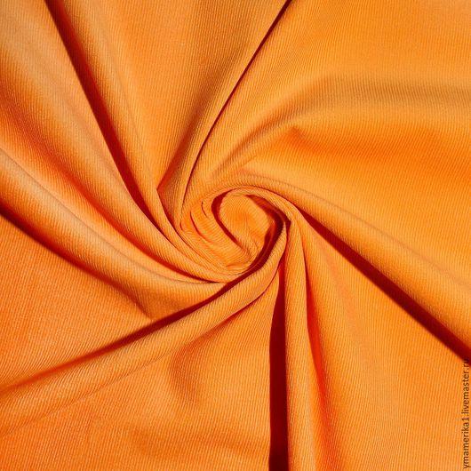Шитье ручной работы. Ярмарка Мастеров - ручная работа. Купить Американский хлопок-вельвет  однотонный оранжевый. Handmade. Американский хлопок