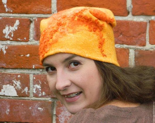 """Шапки ручной работы. Ярмарка Мастеров - ручная работа. Купить """"Хитрый,рыжий,влюбленный""""шапка валяная теплая. Handmade. Шапка"""