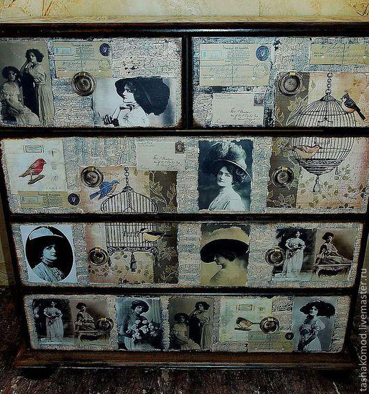 """Мебель ручной работы. Ярмарка Мастеров - ручная работа. Купить Комод """"Винтажная комната"""". Handmade. Мебель, акриловые краски и лак"""