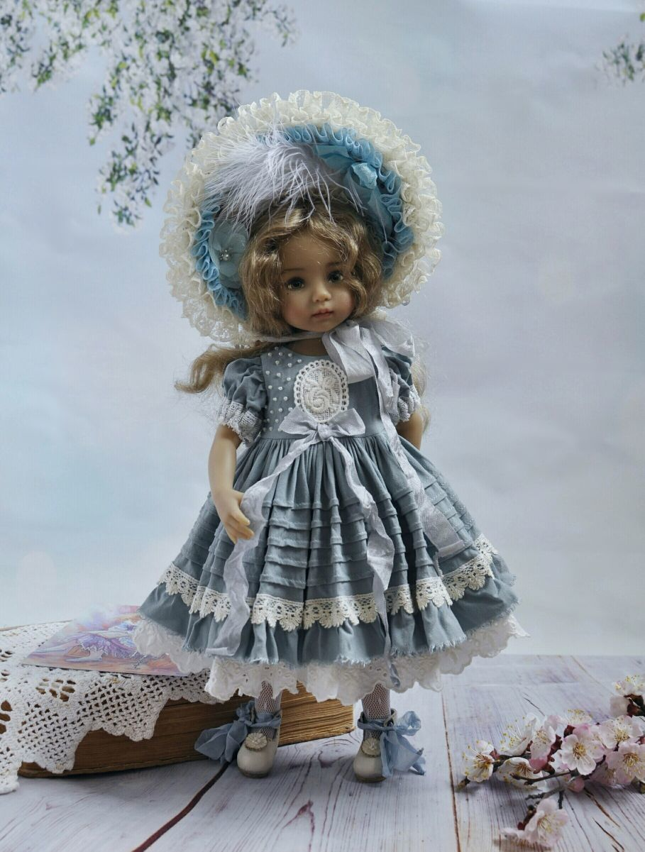 Clothes for Little Darling (Dianna Effner) dolls.Blue outfit, Clothes for dolls, Taganrog,  Фото №1