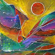 Картины и панно ручной работы. Ярмарка Мастеров - ручная работа Картина Кеплер 22б. Handmade.