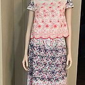 Одежда handmade. Livemaster - original item Suit with embroidery and de-coring. Handmade.
