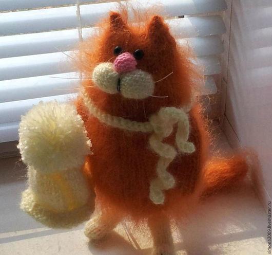 Игрушки животные, ручной работы. Ярмарка Мастеров - ручная работа. Купить Котофеич - интерьерная игрушка, вязаный кот, пушистик. Handmade.