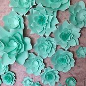 Свадебный салон ручной работы. Ярмарка Мастеров - ручная работа Бумажные цветы мятного цвета. Handmade.