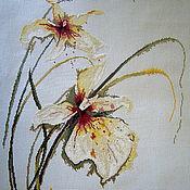 """Картины и панно ручной работы. Ярмарка Мастеров - ручная работа Картина """"Белая орхидея"""". Handmade."""