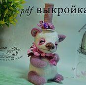 Материалы для творчества handmade. Livemaster - original item pattern Panda bear Bo. Handmade.