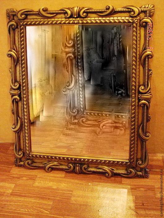 Зеркала ручной работы. Ярмарка Мастеров - ручная работа. Купить Зеркало в резной раме. Handmade. Коричневый, подарок на любой случай