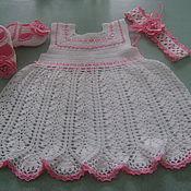 Работы для детей, ручной работы. Ярмарка Мастеров - ручная работа Ажурное платье для маленькой принцессы. Handmade.