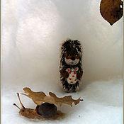 Украшения ручной работы. Ярмарка Мастеров - ручная работа Ежик в тумане. миниатюра. Handmade.