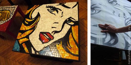 Стол с мозаичной столешницей. Работа на заказ. Наталья Шестакова - дизайнер, декоратор.