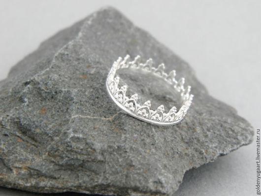 Кольца ручной работы. Ярмарка Мастеров - ручная работа. Купить Кольцо для принцессы, серебро 925 пробы. Handmade. Серебряный