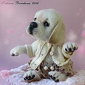 """Куклы и игрушки ручной работы. Ярмарка Мастеров - ручная работа Валяный щенок лабрадора """"Арлетт"""". Handmade."""