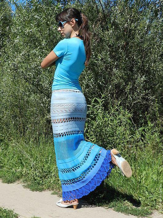 """Юбки ручной работы. Ярмарка Мастеров - ручная работа. Купить вязаная юбка """"Лагуна"""". Handmade. Юбка, пляжная юбка"""