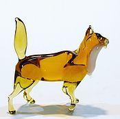 Куклы и игрушки handmade. Livemaster - original item Interior figurine made of colored glass cat Apricot. Handmade.