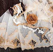 Материалы для творчества ручной работы. Ярмарка Мастеров - ручная работа Кружевной набор 384 вышивка на сетке, шебби ленты, набор с кружевом. Handmade.