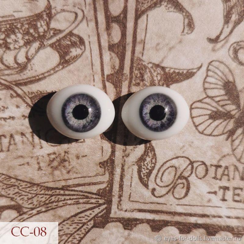 """Стеклянные глаза """"рыбки"""" 12мм, цвета в ассортименте, Глаза и ресницы, Кострома,  Фото №1"""