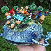 """Подарки к праздникам ручной работы. Ярмарка Мастеров - ручная работа игрушка """"Чудо -Юдо Рыба -Кит"""". Handmade."""
