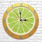 Для дома и интерьера handmade. Livemaster - original item Wall clock lime Citrus. Handmade.