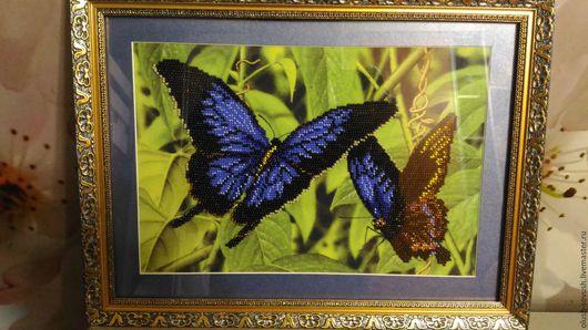 Картины цветов ручной работы. Ярмарка Мастеров - ручная работа. Купить Картины вышитые бисером. Handmade. Желтый, ручная работа