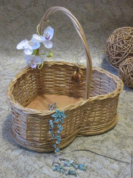 Baskets & Boxes handmade. Livemaster - handmade. Buy Vase 'Heart' is.Wickerwork, beige, basket, willow vine