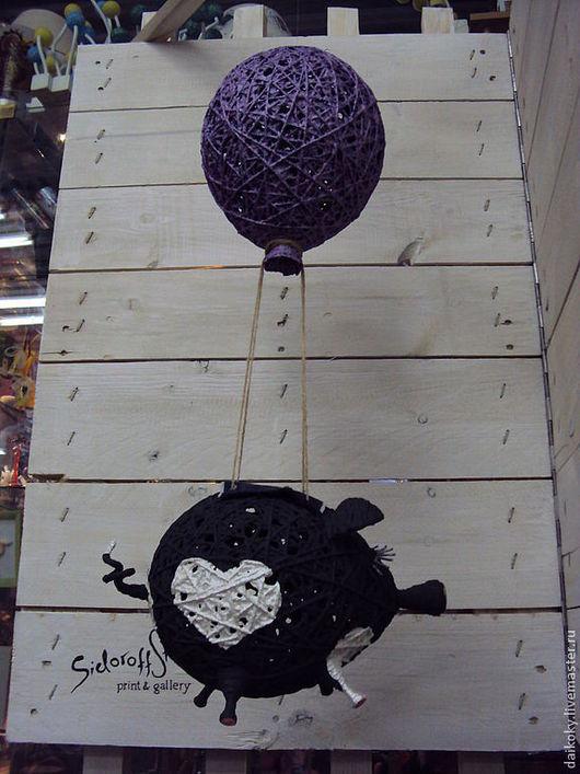 Куклы и игрушки ручной работы. Ярмарка Мастеров - ручная работа. Купить Пигги на воздушном шаре. Handmade. Поросенок, подарок мужчине