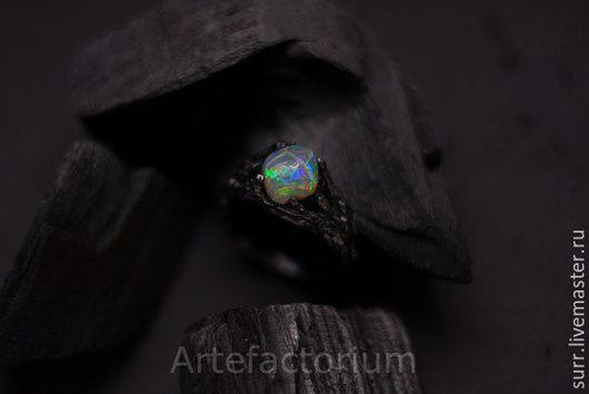 Кольца ручной работы. Ярмарка Мастеров - ручная работа. Купить Серебряное кольцо с опалом № 234. Handmade. Комбинированный