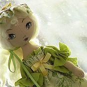 Куклы и игрушки ручной работы. Ярмарка Мастеров - ручная работа Кукла девочка Элиза - нежный, зелень, весенняя, маленькая. Handmade.