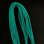 Украшения handmade. Livemaster - original item Gaitan silk cord Turquoise Tiffany Blue without lock 60 cm. Handmade.