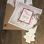 Открытки ручной работы. Ярмарка Мастеров - ручная работа Новогодние открытки в конверте. Handmade.