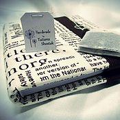 "Канцелярские товары ручной работы. Ярмарка Мастеров - ручная работа Блокнот ""Newspaper"". Handmade."