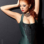 Corsets handmade. Livemaster - original item Corset with straps, effect push-up. Handmade.