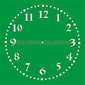 Трафареты ручной работы. Ярмарка Мастеров - ручная работа Часы 4 вида.Клеевые трафареты.Размер любой. Handmade.