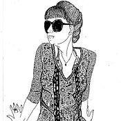 """Картины и панно ручной работы. Ярмарка Мастеров - ручная работа автопортрет """"самоокружение"""". Handmade."""