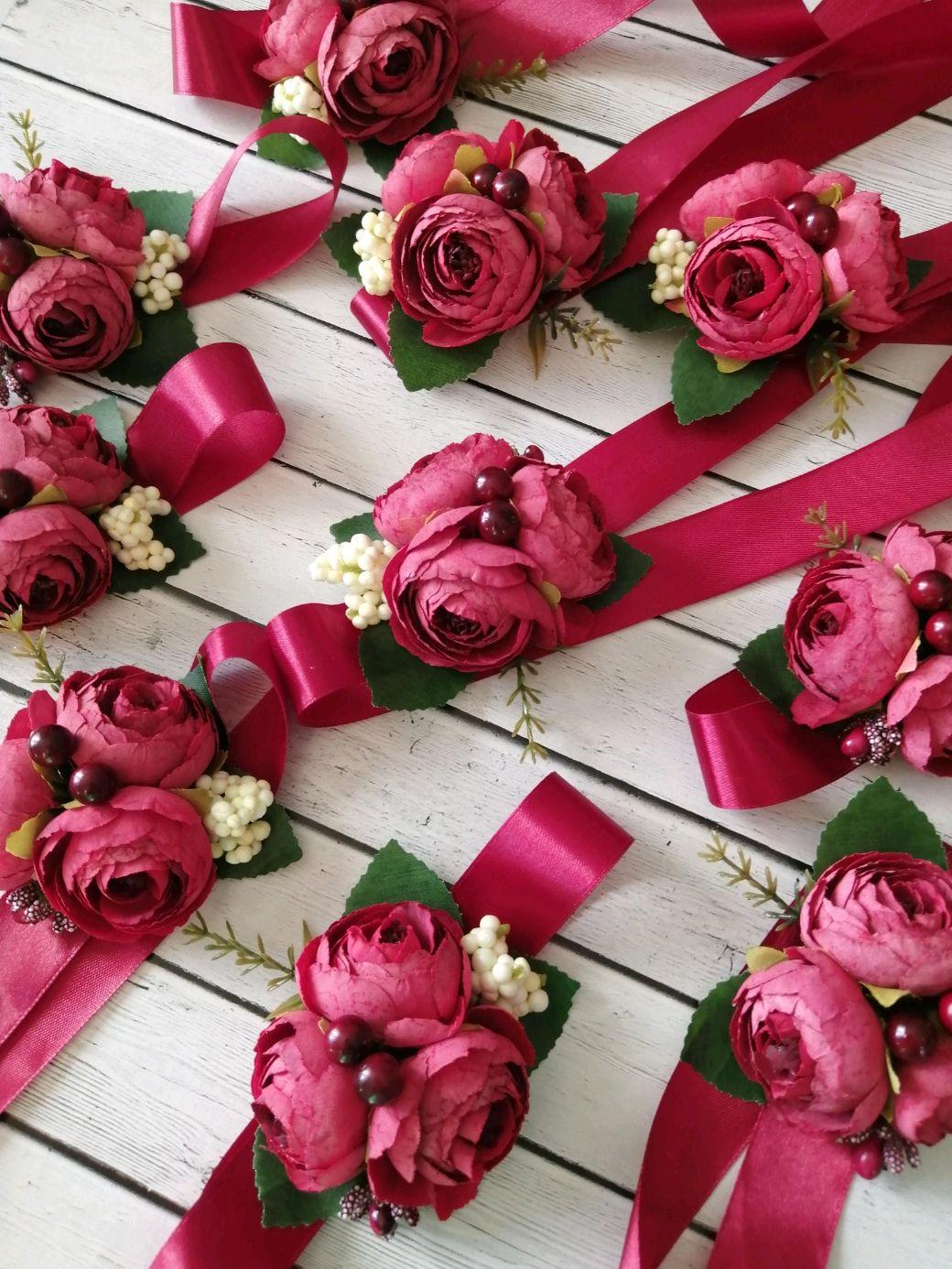 Браслеты для подружек невесты, Цветочный декор, Самара,  Фото №1