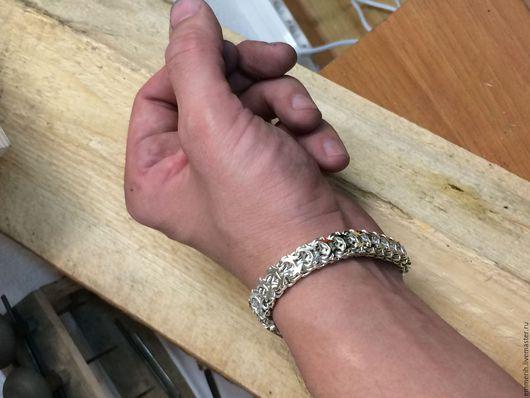 Браслеты ручной работы. Ярмарка Мастеров - ручная работа. Купить Браслет серебряный. Handmade. Серебряный, браслет с камнями, браслет