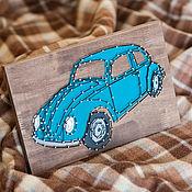 """Картины и панно ручной работы. Ярмарка Мастеров - ручная работа """"Volkswagen Beetle"""" в технике String Art. Handmade."""