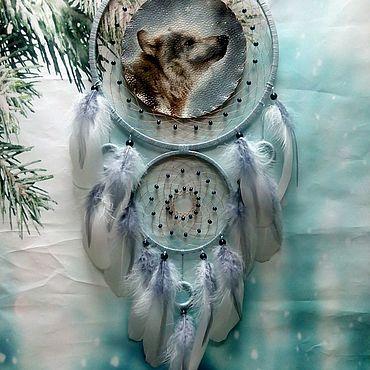 """Феншуй ручной работы. Ярмарка Мастеров - ручная работа Ловец снов """"Снежный волк"""". Handmade."""