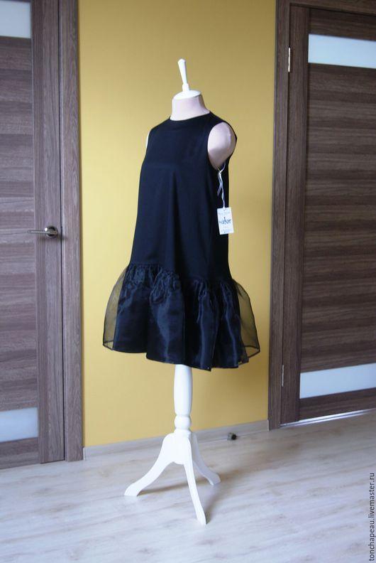 Платья ручной работы. Ярмарка Мастеров - ручная работа. Купить Платье из сатина и органзы. Handmade. Черный, сатин коттон
