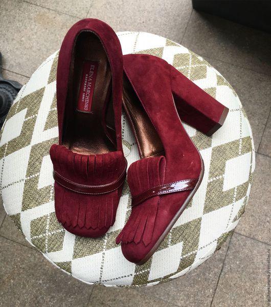 Обувь ручной работы. Ярмарка Мастеров - ручная работа. Купить Туфли. Handmade. Бордовый, туфли из кожи, кожа натуральная