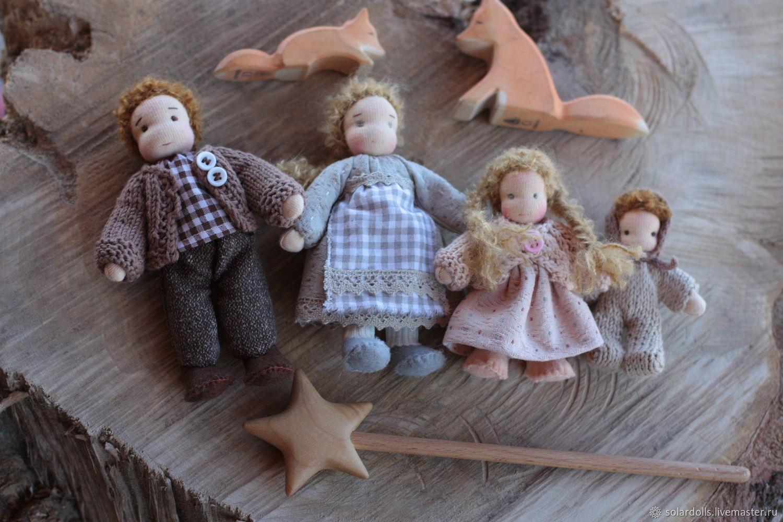 Вальдорфская кукольная семья 14-7 см, Вальдорфские куклы и звери, Москва,  Фото №1