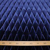 Ткани ручной работы. Ярмарка Мастеров - ручная работа Ткань бархатная курточная синего цвета. Handmade.