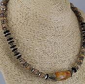 Украшения handmade. Livemaster - original item Necklace-choker made from natural stones of Jasper and agate