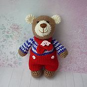 Мягкие игрушки ручной работы. Ярмарка Мастеров - ручная работа Медвежонок вязаный. Handmade.
