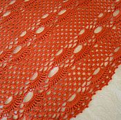 Аксессуары handmade. Livemaster - original item Red shawl without fringe. Handmade.