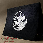 "Канцелярские товары handmade. Livemaster - original item Обложка для паспорта ""Dragon Silver"". Handmade."